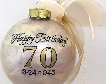 HAPPY BIRTHDAY! PERSONALIZED Glass Christmas Ornament Keepsake Gift