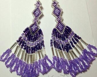 Daisies and Diamonds - purple