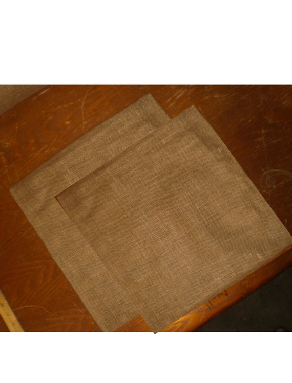 Blank Decorative Pillow Covers : Burlap Pillow Covers 2-Pack Free Shipping 18 X
