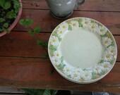 "On Sale Metlox Sculptured Daisy Poppytrail Dinner Plate 10"" Large Retro Kitchen Pottery Poppy Trail"
