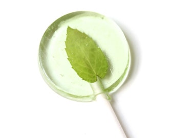 Mojito Mint Flavor Lollipops 8 pieces 2 sizes//Wedding Favors