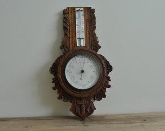 Vintage nautical aneroid barometer - anchor