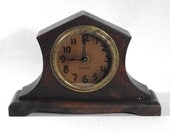 Reserved for Ashley - Working Antique Wind Up Mantle Clock - Gilbert - Art Deco