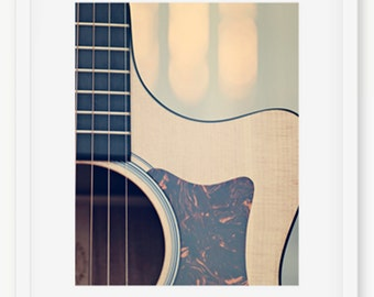 Guitar Photography, Acoustic Guitar Photography, Guitar Strings Art, Guitar Art, Guitar Print, Acoustic Guitar Poster, Guitar Decor