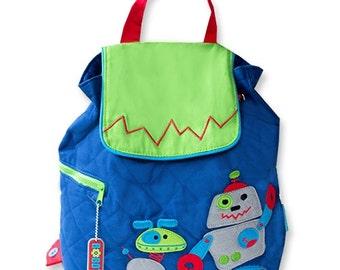 Stephen Joseph Robot boys toddler backpack personalized monogrammed