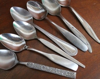 Vintage Stainless Silverware Flatware Spoons Mix and Match  photo props BIN 35