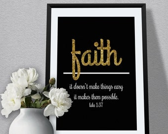 Religious Wall Art Quote On Faith Bible Verse Art For Home Decor For Bedroom Or Living Room