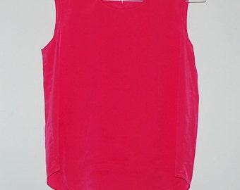 Vintage Hot Pink Silk Blouse