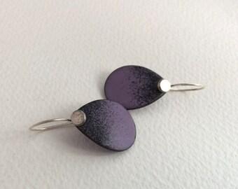Purple Ombre Enamel Earrings