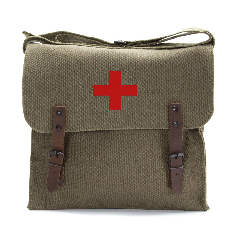 vintage medic bag skull bag medic by