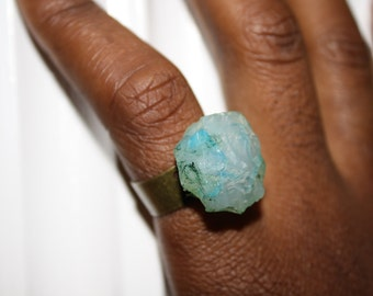 Green Chalcedony RIng by ChoklatTea