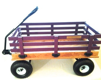Wooden Wagon, Large, Choice of Color