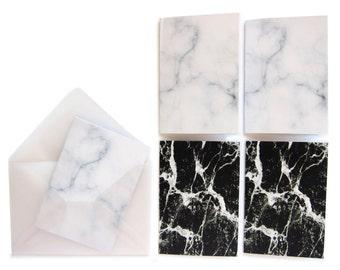 marble mini cards + envelopes