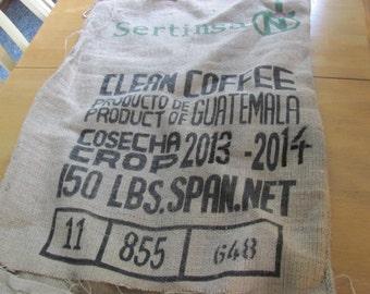 Burlap Coffee Bag Sack 40 by 27 Black writing