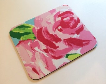 Fabric Mouse Pad Hotty Pink First Impression  made with Lilly Pulitzer Fabric