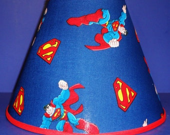 Superman on Blue Lamp Shade Lampshade