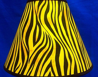 African Tiger Print Lamp Shade