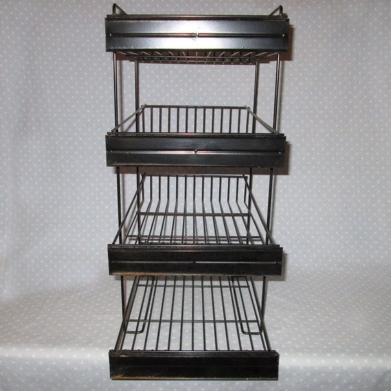 awesome store display wire rack shelves hanging black heavy