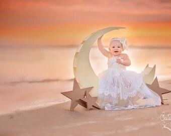 All Cream Couture Baby Headband, Baby Flower Headband, Children, Photo Prop, Special Occasion / Stunning Cream Baby Headband