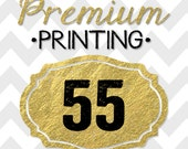 55 5x7 PREMIUM PRINTED double-sided INVITATIONS on thick cardstock and free white envelopes