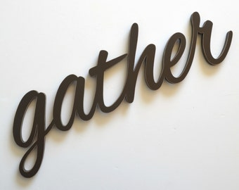 Gather Wood Sign Wall Hanging