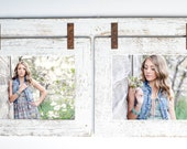 Barnwood Collage White Frame 2) 8x10 Multi Opening Frame-Rustic Picture Frame-Reclaimed-Cottage Chic-Collage Frame-Collage Frame-Shabby