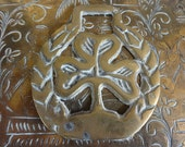 Vintage English tree horse brass harness martingale tack circa 1920's / English Shop