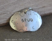 Large Spud tag-  personalized pet id tag for the big pooches- Tater