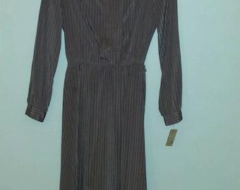 Jonathan Martin Pink mauve shirt dress 1980s
