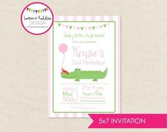 Alligator Birthday, Crawfish Birthday Invitation, Alligator Printables, Crawfish Birthday Decorations, Lauren Haddox Designs