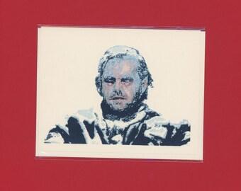 FROZEN JACK NICHOLSON - Pop Culture Card - The Shining - Shining Card - Kubrick - Shelley Duvall - Jack Nicholson - Original Art - Item M134