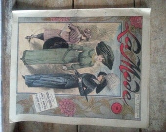 Antique French fashion magazine 1912