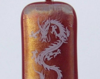 Fire dragon pendant.