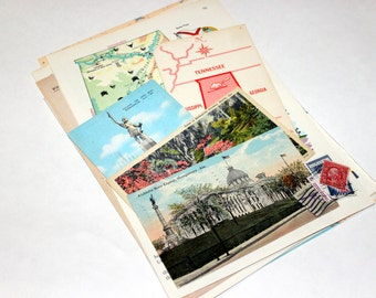 Alabama - United States Vintage Travel Collage Kit