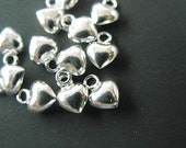 10 of 925 Sterling Silver Heart Charms 5 mm. :th0131