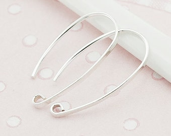 5 pairs of 925 Sterling Silver Ear Wires 13x23 mm. :tk0017