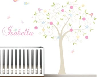 Baby Wall Decal,Childrens Wall Decal,Nursery Wall Decal,Wall Decals Nursery,Wall Decals Flowers-e100
