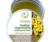 Helichrysum Italicum Salve for stretch marks, inflamed skin, varicose veins, Wrinkles, Scars, Eczema, (1.7 fl,oz/50 ml)