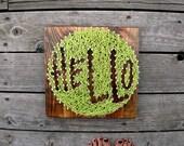 Hello String and Nail Art II - Typography - Montana Reclaimed Barnwood