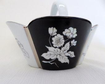 hand painted basket, limoges porcelain,  porcelain basket