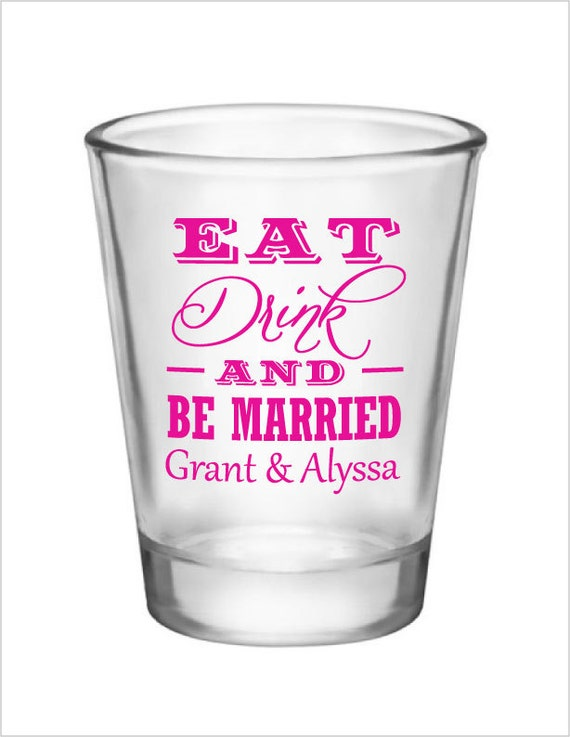 wedding shot glasses 96 personalized wedding favors glass shot