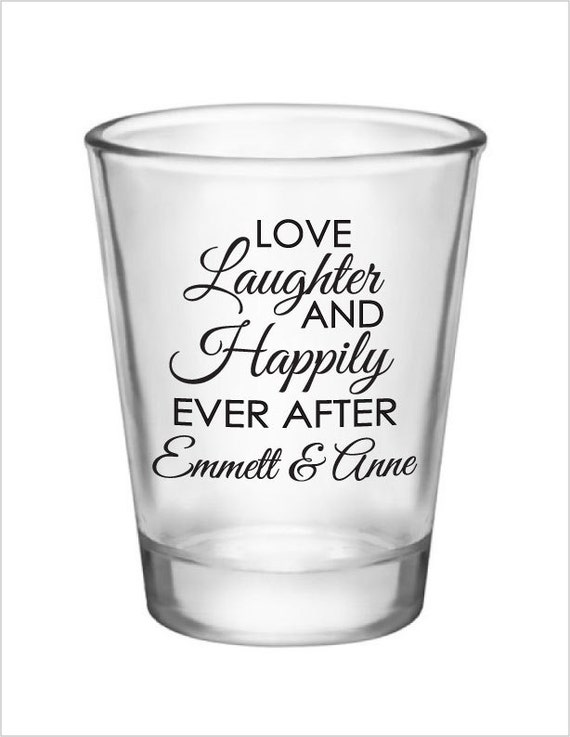 wedding shot glasses 168 personalized wedding favors glass shot