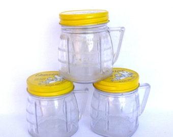 VINTAGE OSTERIZER JARS/ Set of 3 Storage Jars