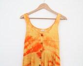 fiery tie dye maxi dress