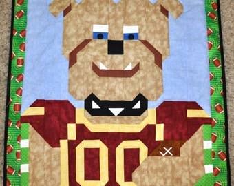Football Bulldog quilt