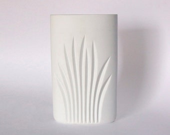 Modernist White Bisque Oval Vase -  Claus Josef Riedel for Rosenthal Studio Linie 1960s