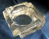 Heavy Glass Ashtray Which Could Be Used In Other Ways, Vintage