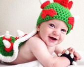 Bowser baby beanie mario themed villian hat