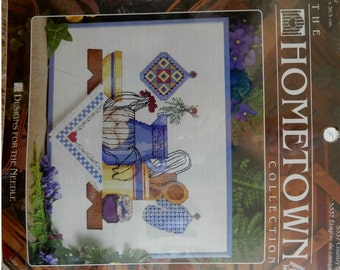 The Hometown Collection Counted Cross Stitch #5337 Country Shelf