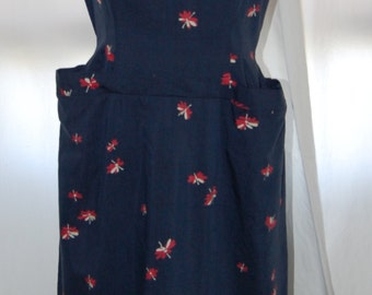 "vintage 40s dress, midnight blue, floral dress, square neck, nip waist, wasp waist dress, Mother's Day, 28"" waist, floral print"